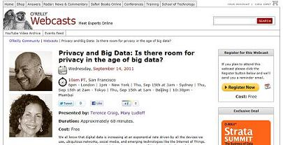 O'Reilly Webcast: Privacy and Big Data